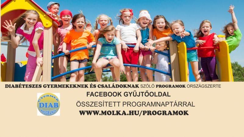 Diabéteszes gyermekprogramok összesített naptára