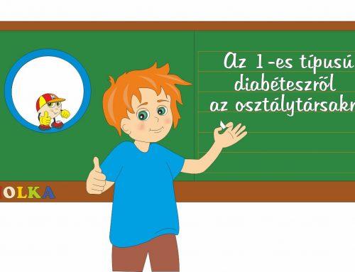 1-es típusú diabétesszel élő kisgyermek az iskolában